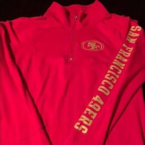 VS Pink SF 49ers 3/4 zip sweatshirt